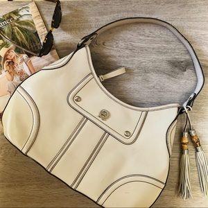 Etienne Aigner Bamboo Tassel Hobo Shoulder Bag